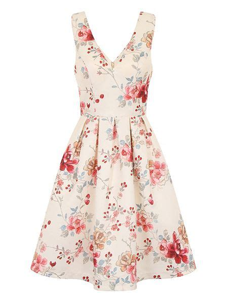 flower pattern midi dress chi chi london vintage floral print midi dress multi
