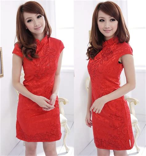 dress cheongsam merah imlek terbaru 2014 model terbaru