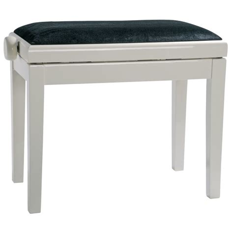 piano bench white burghardt b5 piano bench white polished seat cover velvet