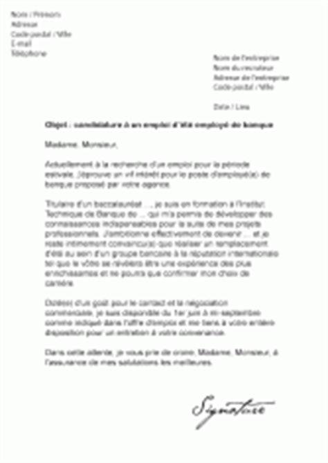 Lettre De Motivation Pour Travailler Dans Banque Mod 232 Les De Lettres De Motivation Pour Un 233 Tudiant