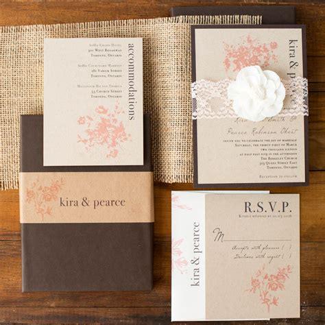 rustic elegance wedding invitations rustic elegance customizable modern boxed wedding