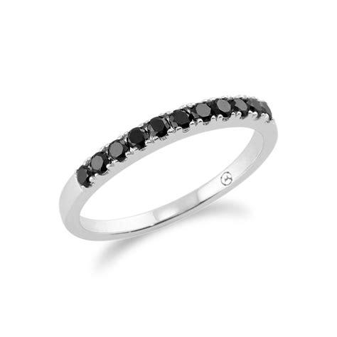 9ct white gold black eternity ring