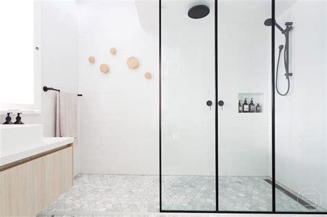 Black Showering by Bathroom Design Idea Black Shower Frames Contemporist