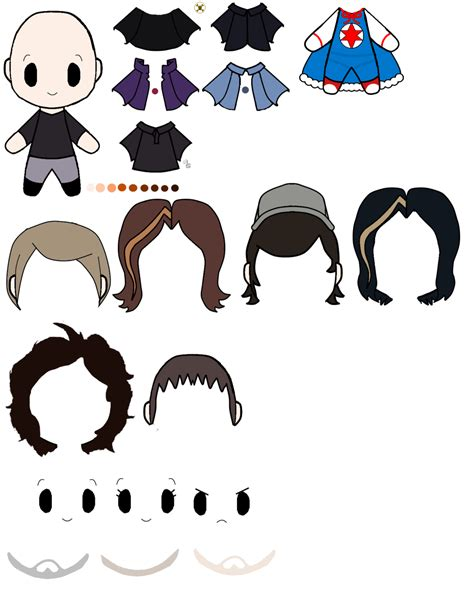 Chibi Template by Chibi Template With Grumps Parts By Bloody Uragiri On