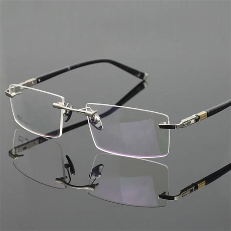 titanium eyeglasses rimless ultra light myopia optical frame prescription glasses frames for