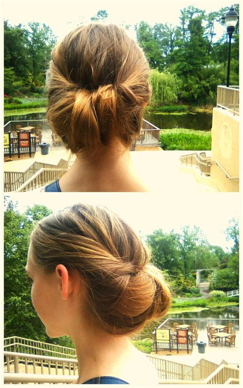 easy hairstyles no bobby pins easy bun twist updo no bobby pins required hair