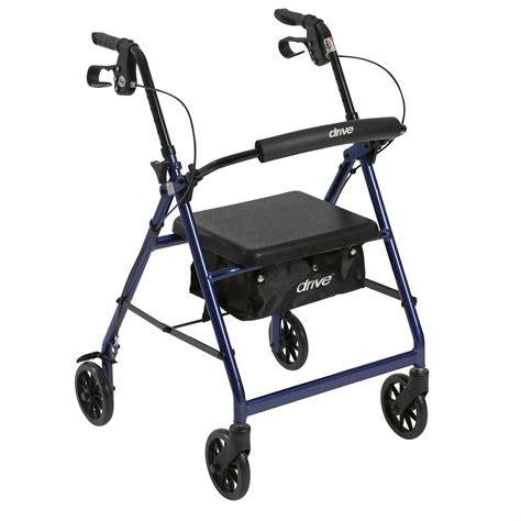 drive walker rollator with 6 quot wheels fold up