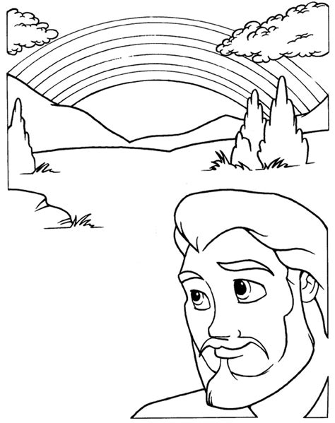 coloring page noah s ark and rainbow free coloring pages of noah s ark rainbow
