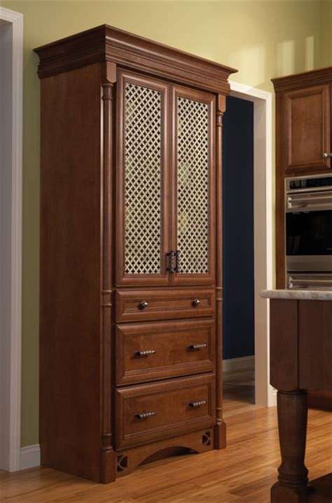 Maple Kitchen Pantry Cabinet by Sydney Maple Charcoal Traditional Pantry Cabinets Other Metro By Wellborn
