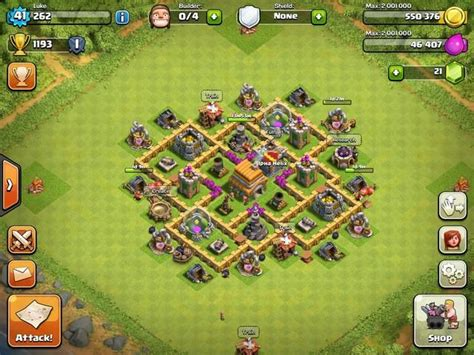 clash of clans town hall 6 setups th6 setups th 6 war base google search clash of clans pinterest