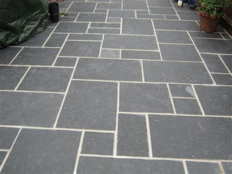 Patio Stone Slabs Gt Black Limestone Slate 171 Garden Gurus Landscape