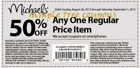 michaels printable coupons 2014 michaels coupons july 2014