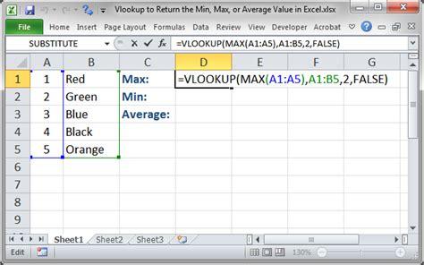 vlookup tutorial true false vlookup to return the min max or average value in excel