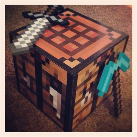 Minecraft Craft Table by Diy Minecraft Crafting Table Decal Set Make Your Own
