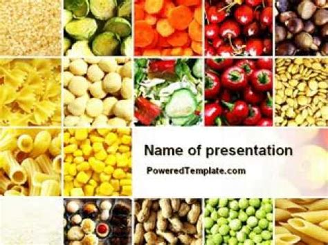 Vegetarian Foods Powerpoint Template By Poweredtemplate Com Youtube Vegetarian Presentation Template