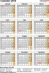 Calendar For Year 2018 United Kingdom Calendar 2018 Uk 16 Free Printable Pdf Templates