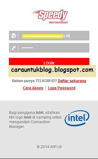 Langganan Wifi Speedy Per Bulan akun telkom id gratis terbaru username dan password wifi