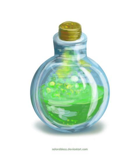 Keypop Translucent Mana Bottle Keycap unidentified potion level 1 closed by adorabless on deviantart