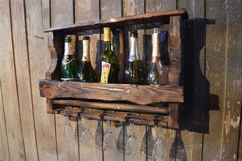 Handmade Wine Rack - 15 awesome handmade wine rack displays for a rustic look