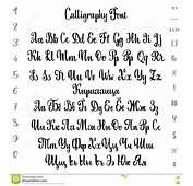 Alfabeto Do Vetor Cir&237lico E Latim Fonte Caligr&225fica