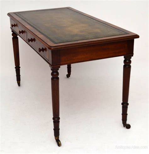leather top writing desk antique mahogany leather top writing table desk antiques