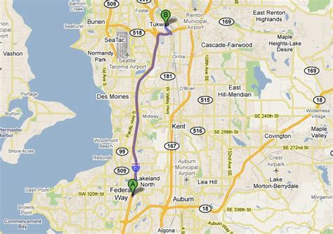 seattle map federal way greater seattle area map