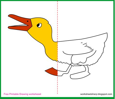 free draw free drawing worksheets printable duckling drawing worksheets