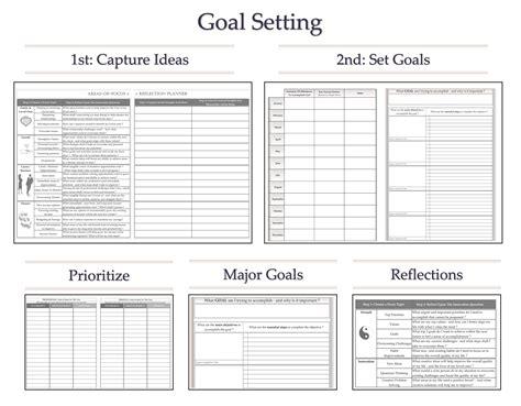 goal setting calendar template goal setting monthly calendar calendar template 2016