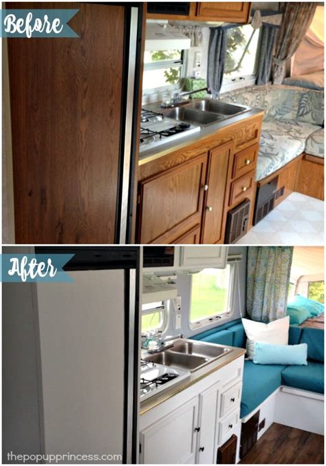 camper trailer renovation ideas with beautiful minimalist