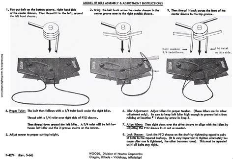 woods finish mower belt diagram woods belly mower 59cl 4 59clf 4 operators manual fits