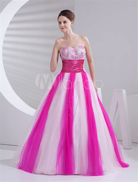 Princess Pink Dress Ios gown pink tulle quinceanera dress milanoo