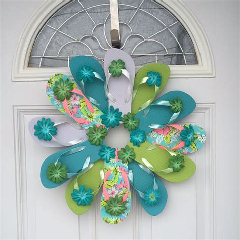 handmade flip flop and home decor wreaths by