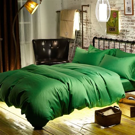 Aliexpress Com Buy 60s Egyptian Cotton Sateen Woven Green Bed