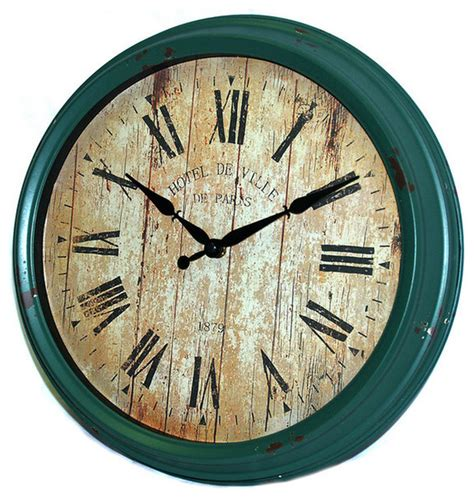 home decor wall clocks antique green wall clock rustic wall clocks by