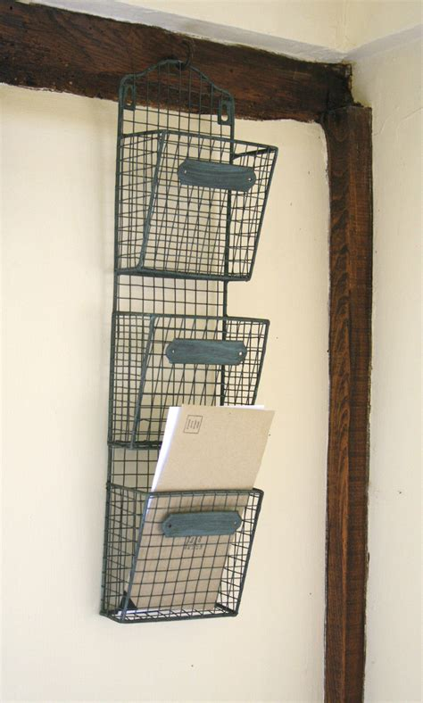 hanging wire wall file or mail holder organizers with 3