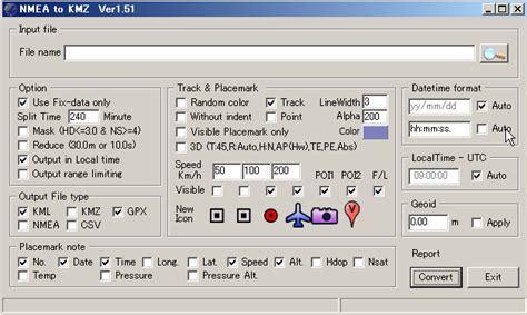 kmz format converter win gpsロガー holux m 241 公式ツールとフリーツールで写真に位置情報を埋め込む kakolog
