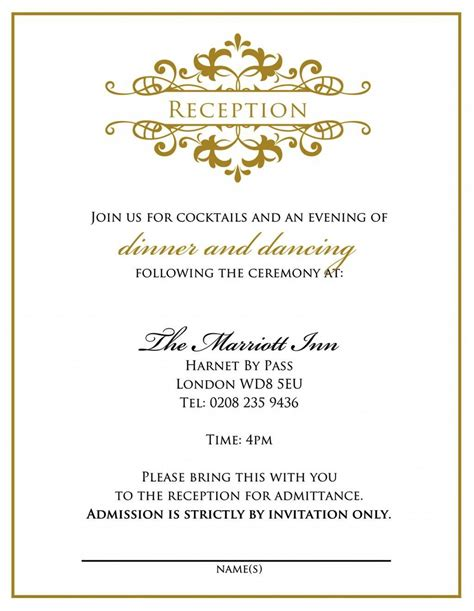 informal wedding reception invitation wording casual wedding reception invitation wording invitation
