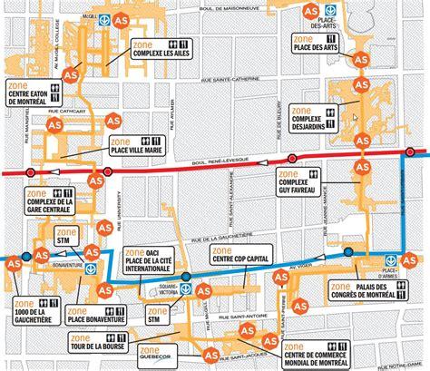 map of underground in montreal underground city map