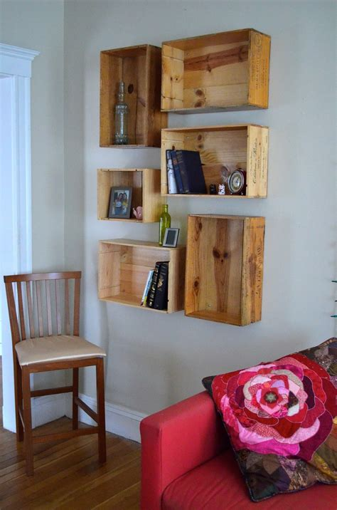 grumpy when hungry wine crate shelves diy