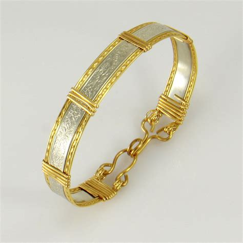 gold wire for jewelry silver and gold wire wrapped bracelet wire wrapped jewelry