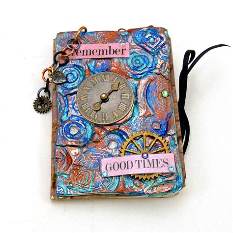 Handmade Book Ideas - remeber mixed media journal cover i made this mixed