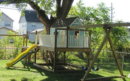 tree house swing set plans ana white playhouse gable end walls diy projects