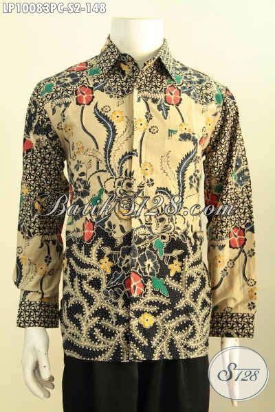 Jarik Sogan Tulis Kombinasi Colet Halus 2 model baju batik hem lengan panjang istimewa pakaian batik halus motif klasik printing