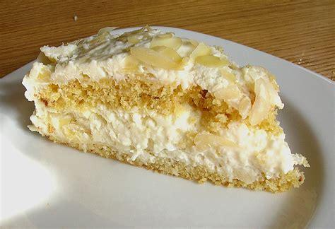 kuchen mit kokoscreme kokoscreme mandel torte rezept mit bild