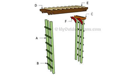 arbor building plans arbor plans myoutdoorplans free woodworking plans and
