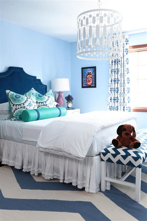girls blue bedroom cool colorful girl s room 2014 hgtv