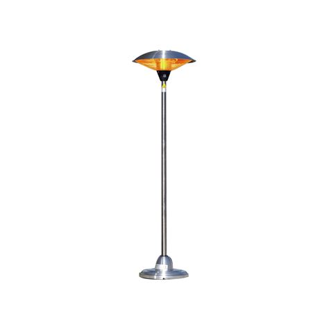 Stainless Steel Floor Standing Round Halogen Patio Heater Standing Patio Heater