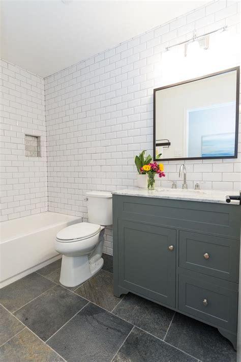slate grey bathroom east austin modern farmhouse just completed gray
