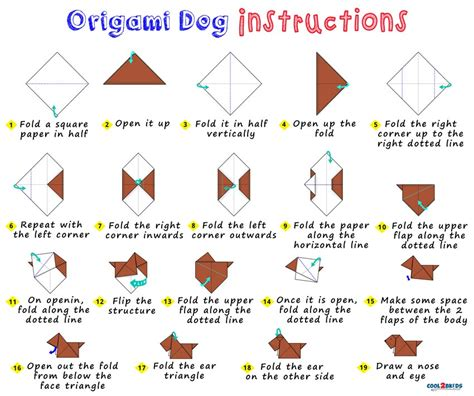 How To Make A Paper Puppy - easy origami paper cool2bkids