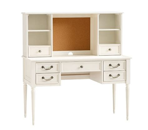 pottery barn white desk blythe desk tall hutch pottery barn kids